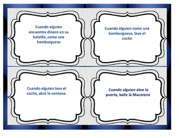 Spanish Formal Commands: Grammar Game