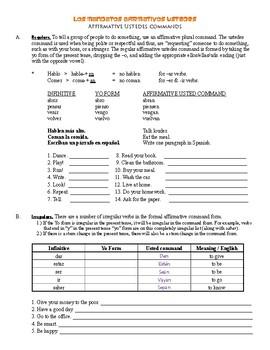 Grammar Bundle #14 (Formal Ustedes Commands / Imperatives)