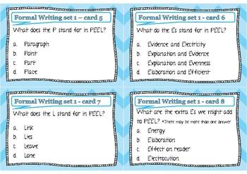 Formal Writing Cards - Set 1