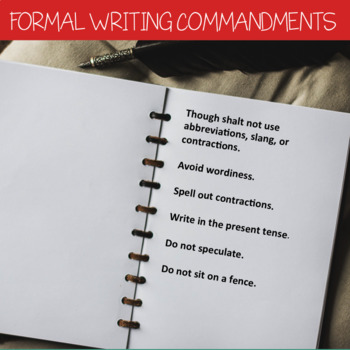 Formal Writing Commandments