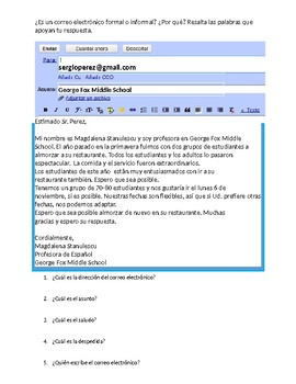 Formal and Informal Emails in Spanish