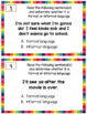 Formal and Informal Language Activities | Task Cards and Anchor Charts