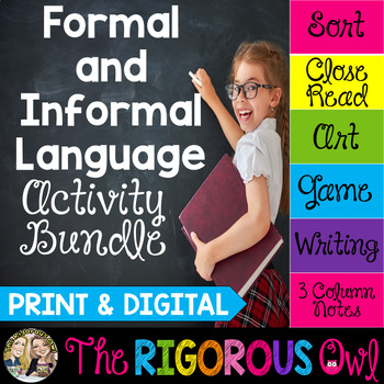 Formal & Informal Language Activities | Print & Digital | Distance Learning