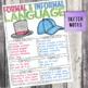 Fourth Grade Grammar and Language Unit on Formal and Informal Language