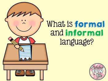 Formal and Informal Language: Power Point, Notes, and Foldable