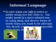Formal and Informal Language PowerPoint
