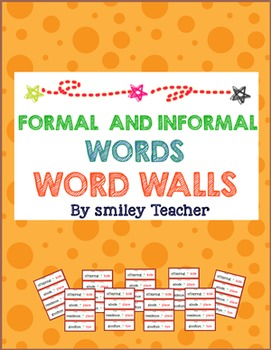 Formal and Informal Words Word Walls FREE!!
