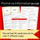 Formal vs. Informal Language Game/Sort Pack (INC. DIGITAL VERSION)