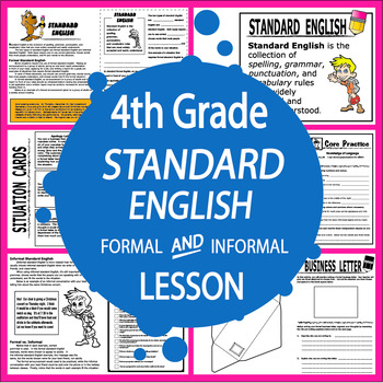 Conventions of Standard English (Lesson + Formal Letter Writing Project)