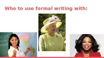 Formal vs. Informal Style Presentation