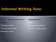 Formal vs Informal Tone (PowerPoint)