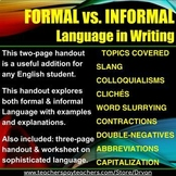 Formal vs Informal Writing
