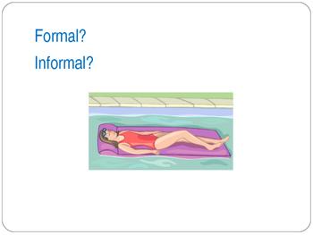 Formal vs Informal Writing Powerpoint