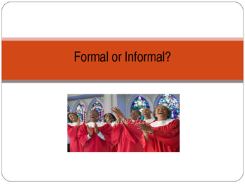Formal vs Informal Writing Powerpoint