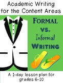 Formal vs. Informal writing style - a 1-day lesson for gra