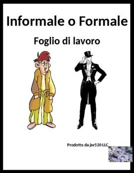 Formale o Informale Familiar vs Formal in Italian worksheet 2
