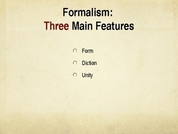 Formalism Literary Theory and Criticism Powerpoint Presentation