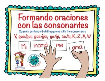 Formando Oraciones 3 of 3/ Spanish Sentence Building Games