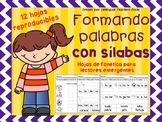 Centro de lectura - Formando Palabras con Sílabas