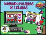 Sílabas - Formando Palabras de Tres Sílabas (Boom Cards) Spanish Syllables