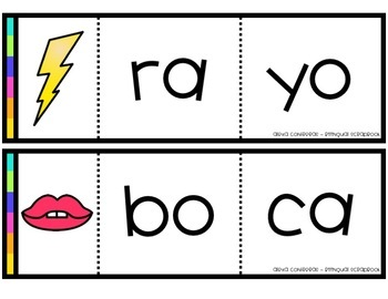 Formando palabras - Rompecabezas (Making Words Centers in Spanish)