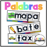 Formando palabras - Tarjetas (Making Words Centers in Spanish)