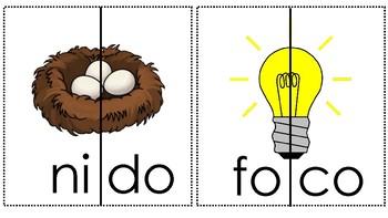 Formar Palabras- Spanish Word Work