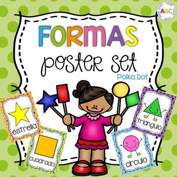 Formas (Spanish poster set - polka dot)