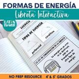 Formas de Energía Libreta Interactiva