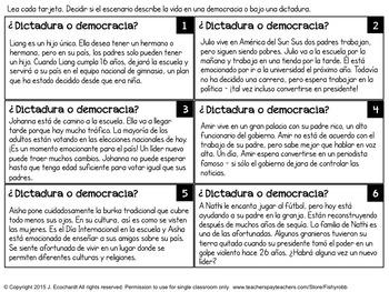 Formas de Gobierno: Dictadura o Democracia? Forms of Government in Spanish