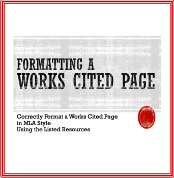 Format a Works Cited Page