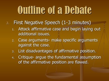 Format of Basic Debate Power Point