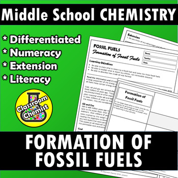 Formation of Fossil Fuels MS-ESS3-5