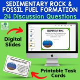 Sedimentary Rock and Fossil Fuel Formation | Discussion Card Activity