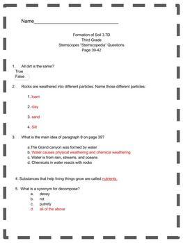 Formation of Soil TEKS 3.7A