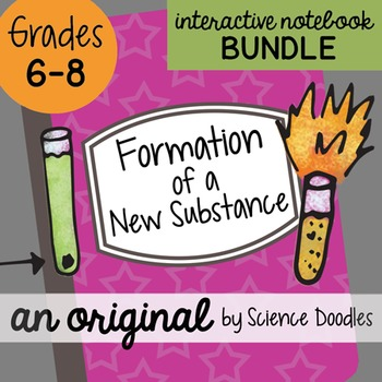 Formation of a New Substance Interactive Notebook Bundle by Science Doodles