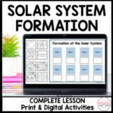 Formation of the Solar System Worksheet, PPT, Activity Dis