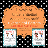 Levels of Understanding Posters and Rubrics (Basketball Kids)