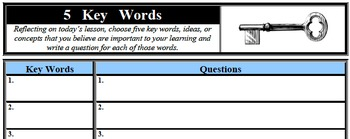 Formative Assessment - 5 Key Words