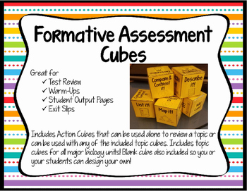 Formative Assessment Cubes