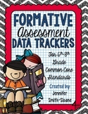 Formative Assessment Data Trackers- 6th through 8th- Aligned to CCSS
