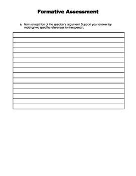 Formative Assessment - ELA Common Core SL 9-10.3