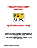 Formative Assessment Exit Slips
