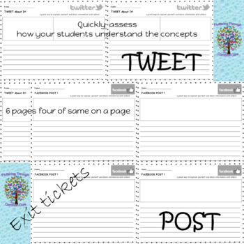 Formative Assessment Exit Tickets