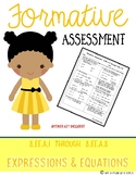 Formative Assessment {Expressions & Equations}