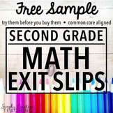 2nd Grade Exit Slips Sample