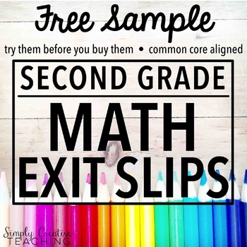 2nd Grade Exit Slips Sample
