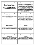 Formative Assessment Flip Book