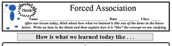 Formative Assessment - Forced Association (1 of 2)