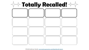 Formative Assessment Game: Totally Recalled!™